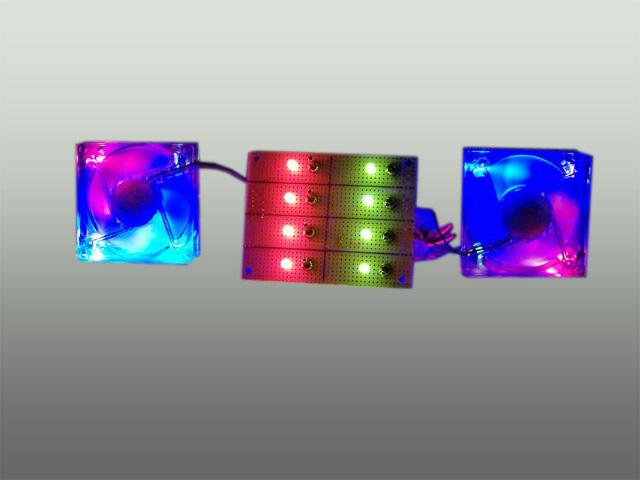 12/7 volts fanbus med to-farvet dioder